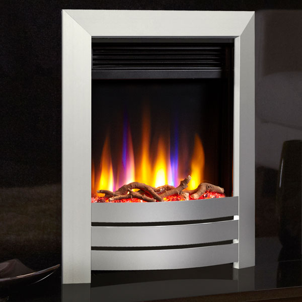 Celsi Ultiflame VR Camber 1.5kw Electric Fire - Satin Silver