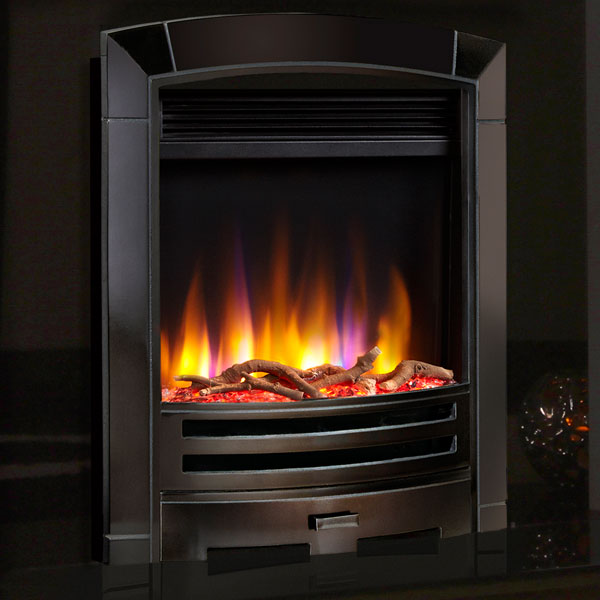 Celsi Ultiflame VR Decadence 1.5kw Electric Fire - Black Nickel