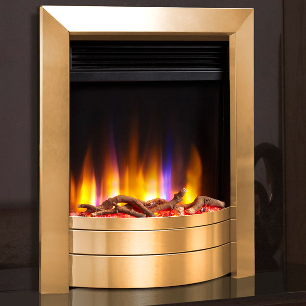Celsi Ultiflame VR Essence 1.5kw Electric Fire - Satin Brass
