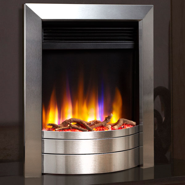 Celsi Ultiflame VR Essence 1.5kw Electric Fire - Satin Silver