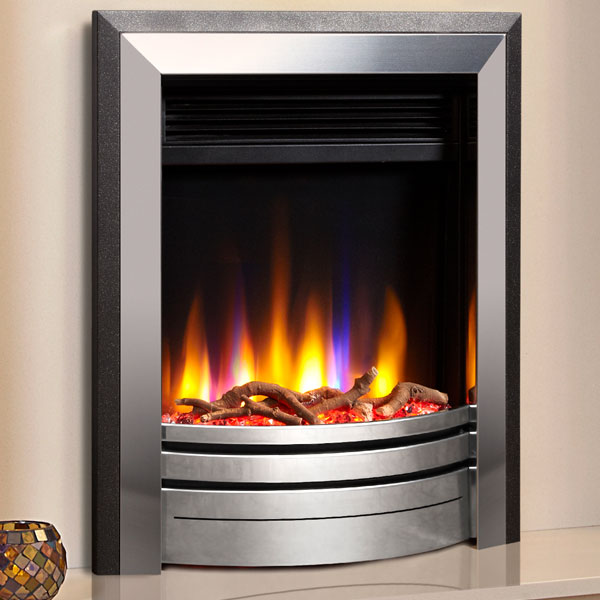 Celsi Ultiflame VR Frontier 1.5kw Electric Fire - Silver/Black