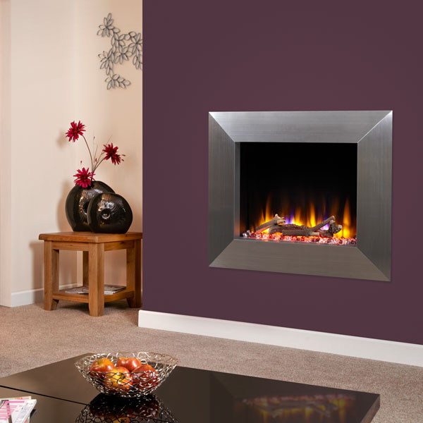 Celsi Ultiflame VR Impulse 1.6kw Electric Fire - Satin Silver