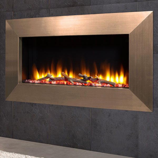 Celsi Ultiflame VR Instinct 1.6kw Electric Fire - Satin Champagne
