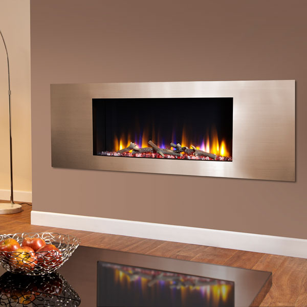 Celsi Ultiflame VR Metz 1.6kw Electric Fire - Satin Champagne