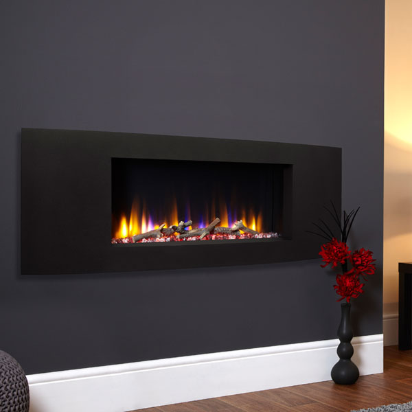 Celsi Ultiflame VR Vichy 1.6kw Electric Fire - Black Textured