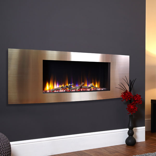 Celsi Ultiflame VR Vichy 1.6kw Electric Fire - Satin Champagne