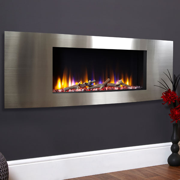 Celsi Ultiflame VR Vichy 1.6kw Electric Fire - Satin Silver
