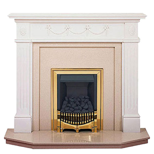 White Fire Surround Part - 32: Prestige Chelsea Hand Crafted Solid Wood Fire Surround - White
