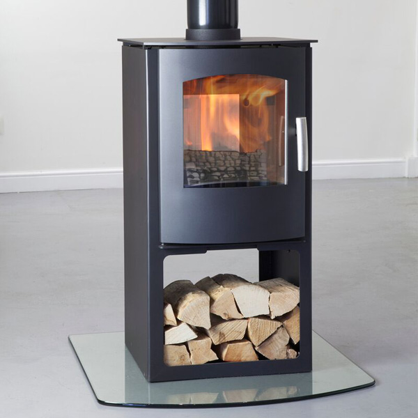 Mendip Churchill 8 - 8kw Defra Double Sided Stove With Log Store