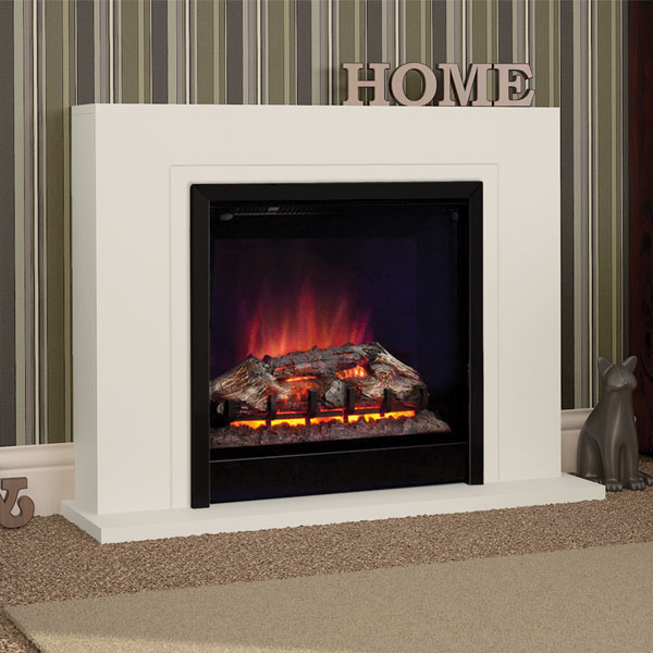 Be Modern Colby Soft White Electric LED Fireplace