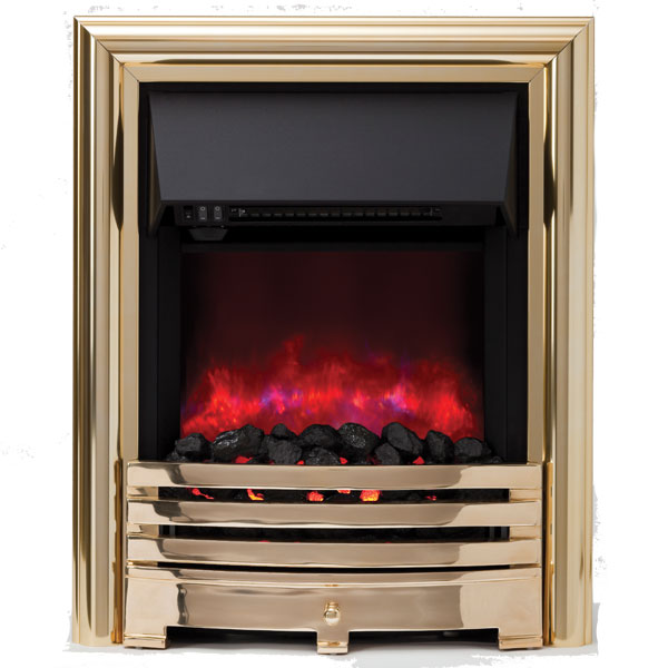 Be Modern Contessa Inset LED Electric Fire - Brass