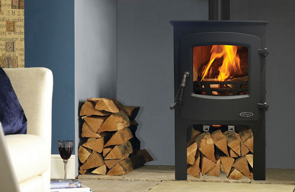 Henley Devon 5kw Multifuel Wood Burning Stove With Log Box