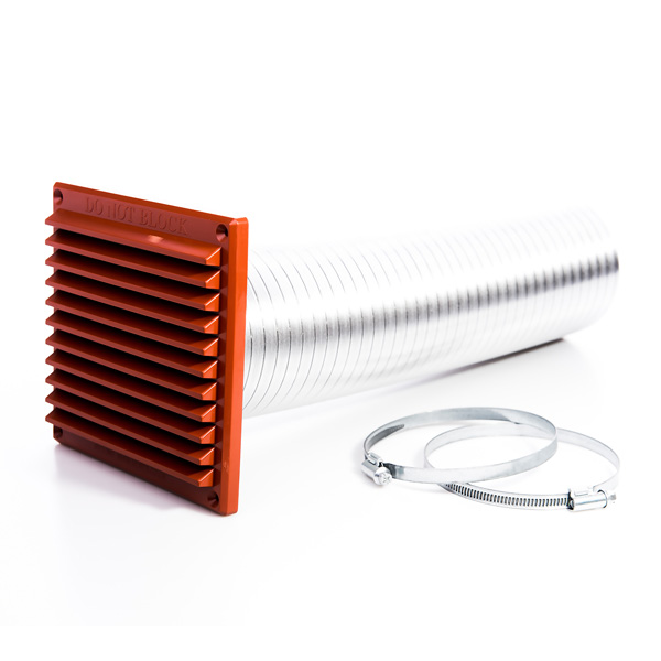 Rytons 100mm Direct Air Ventilation Kit With Grille - Terracotta