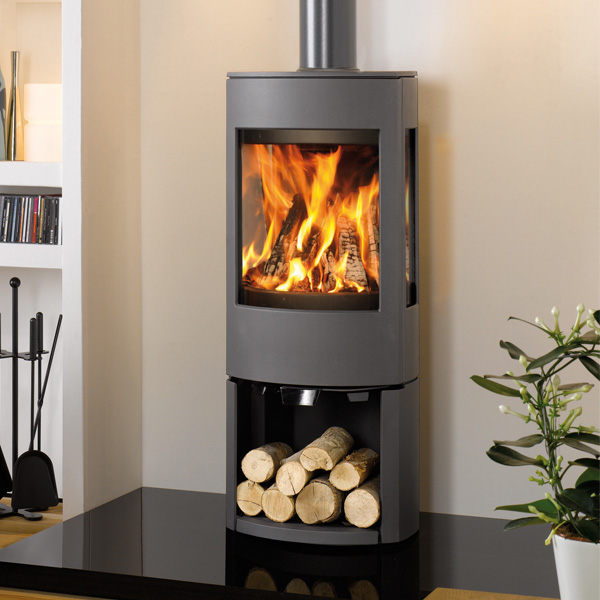Dovre Astroline 4 8kw Wood Burning Stove With Log Store