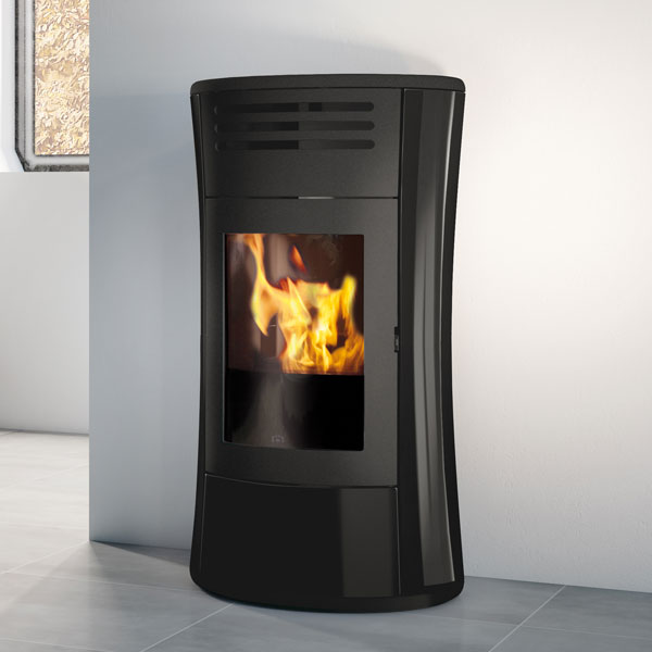 Edilkamin Cherie Up 11kw Pellet Stove - Glass