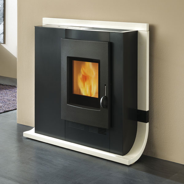 Edilkamin Dame Air Tight 6kw Wood Burning Pellet Stove