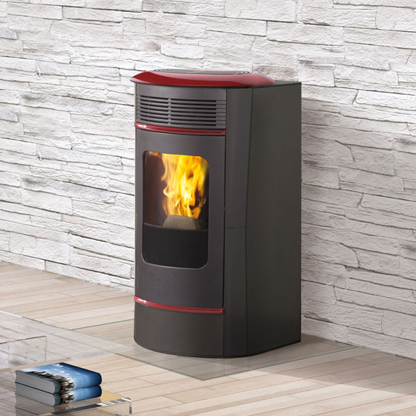 Edilkamin Sally Plus 10kw Pellet Stove - Dark Grey Steel