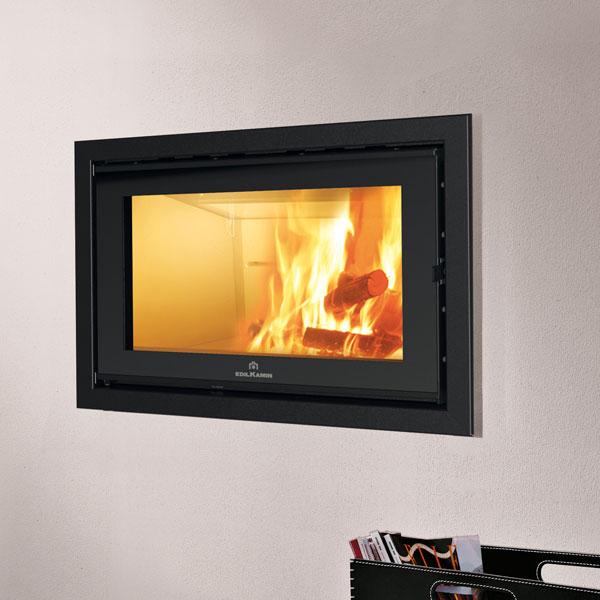 Edilkamin Screen Evo 100 14 5kw Wood Burning Inset Stove