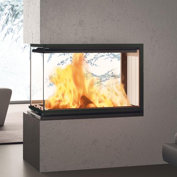 Edilkamin Windo3 85 12kw Wood Burning Inset Stove 163