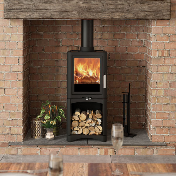 Evolution 5kw Deluxe Defra Multifuel Stove With Log Store