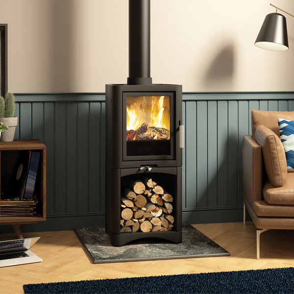 Evolution 5kw Defra Approved Multifuel Stove With Log Store