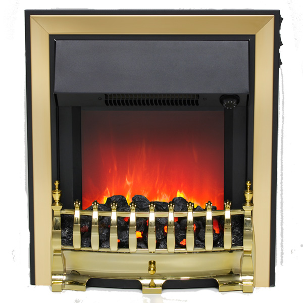 Be Modern Fazer Inset LED Electric Fire - Brass