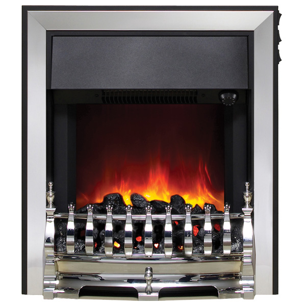 Be Modern Fazer Inset LED Electric Fire - Chrome