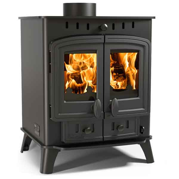 Villager 8 Duo 8kw Multifuel Wood Burning Stove