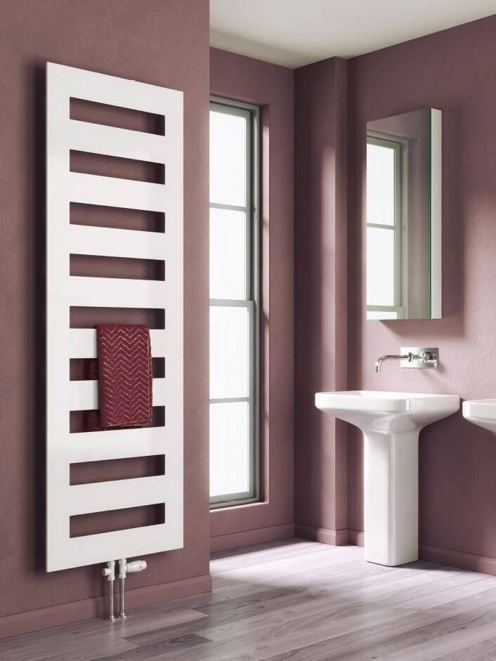 Reina Fondi 1229 x 600 Steel Contemporary Vertical Bathroom Flat Towel Rail and Radiator