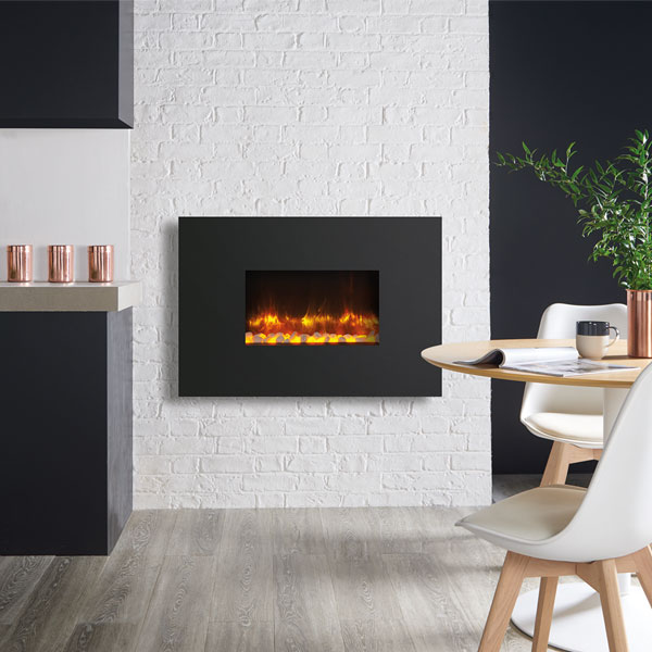 Gazco Radiance 50W Wall Mounted Electric Fire - Steel