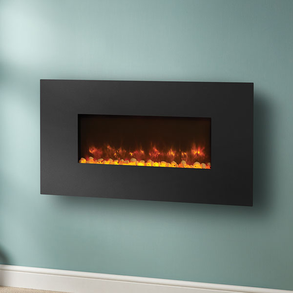 Gazco Radiance 80W Wall Mounted Electric Fire - Steel