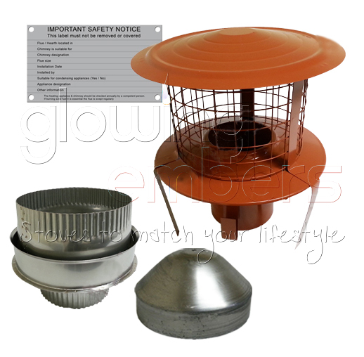 Flexible Chimney Flue Liner Fitting Kit Eight