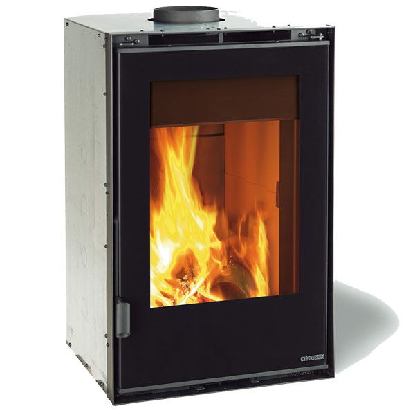 La Nordica 50 Vertical Crystal Ventilato - 8kw Inset Wood Burner