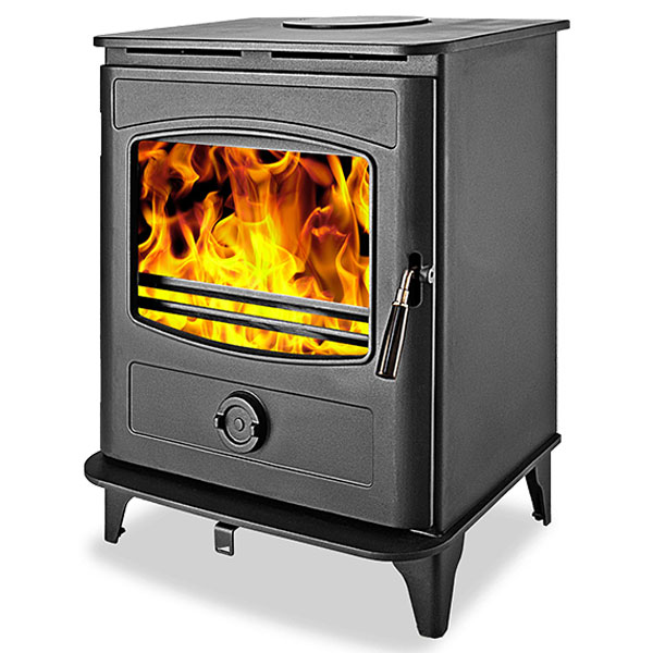 Graphite 10kw Multi Fuel Wood Burning Stove
