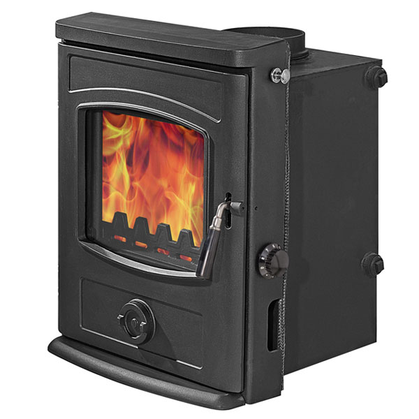Graphite 12.3kw Hetas Approved Multi Fuel Inset Boiler Stove