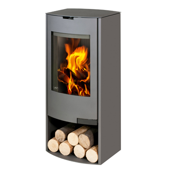 Aga Hadley 8kw Defra Approved Wood Burning Stove With Log Store - Graphite