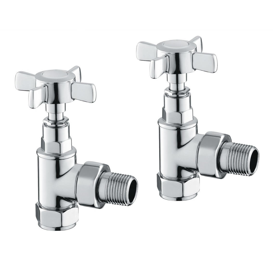 Reina Bronte (Traditional) Angled Chrome Valves