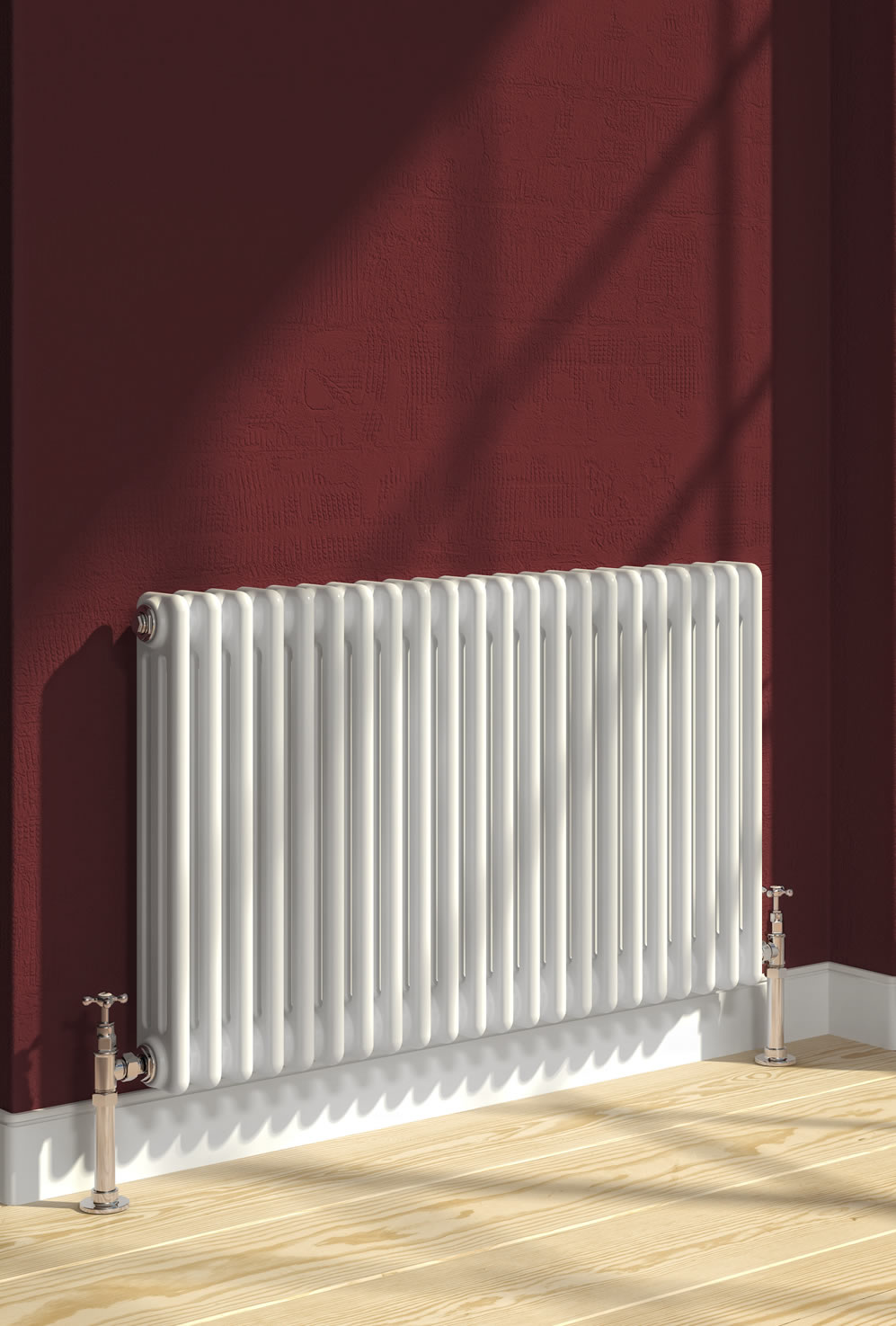 Reina Colona 500 X 605 (2 columns) Steel Dual Fuel Traditional Horizontal Radiator - RAL Colours