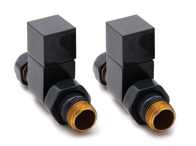 Reina Loge Anthracite Straight Valves