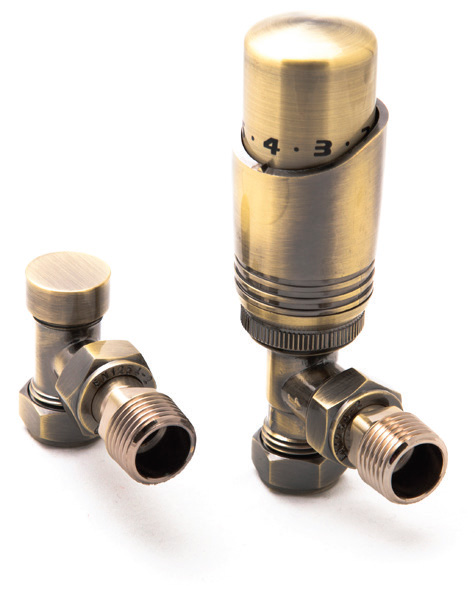 Reina Modal Trv - Bronze Angled Valves With Lockshield