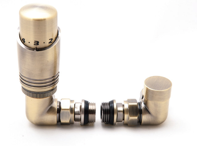 Reina Modal Trv - Bronze Corner Valves With Lockshield