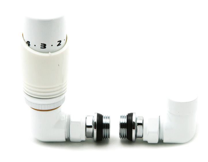 Reina Modal Trv - White Corner Valves With Lockshield