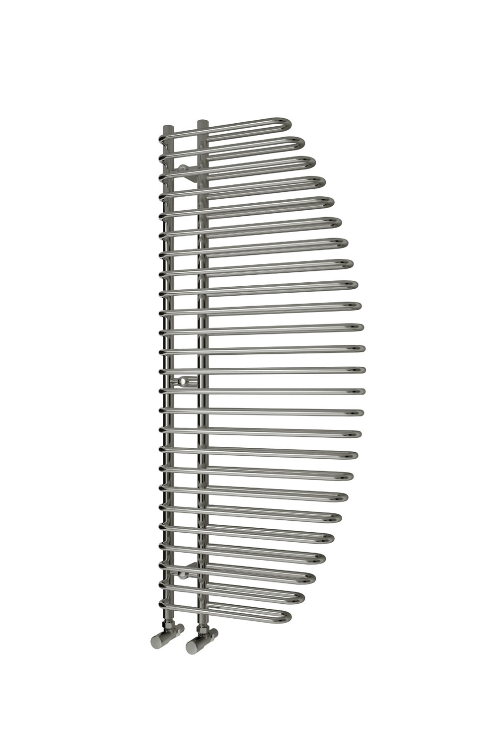 Reina Nola Steel Contemporary Vertical Bathroom Towel Rail and Radiator