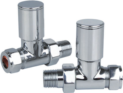 Reina Portland Straight Chrome Valves