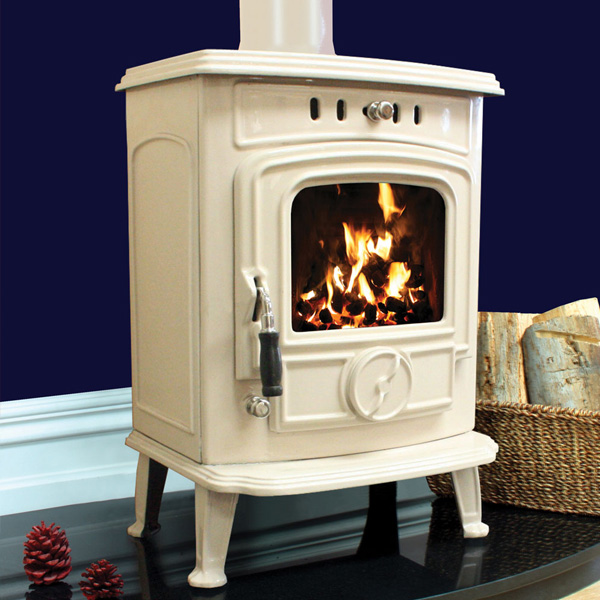Henley Aran 5kw Defra Approved Cream Multifuel Wood Burning Stove