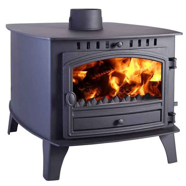 Hunter Herald 14 - 17.8kw Double Sided, Double Depth Wood Burning Stove