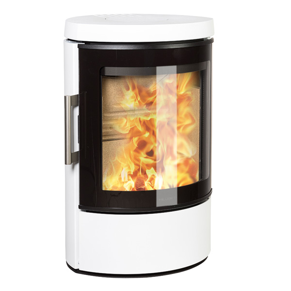 Hwam 3110 4.5kw Defra Wood Burning Stove With Glass Door - White
