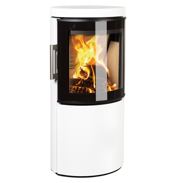 Hwam 3120 4.5kw Defra Wood Burning Stove With Glass Door - White