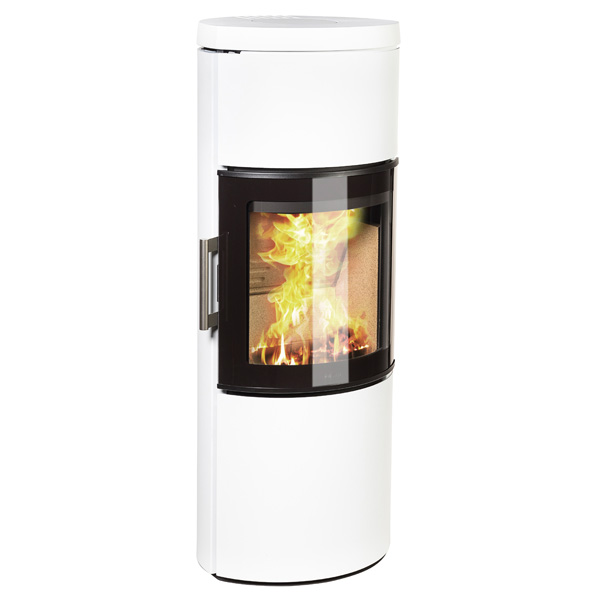 Hwam 3130 4.5kw Wood Burning Stove With Glass Door - White