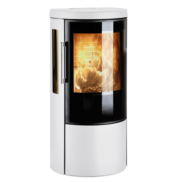 Hwam 3630 6kw Defra Wood Burning Stove With Glass Door - White